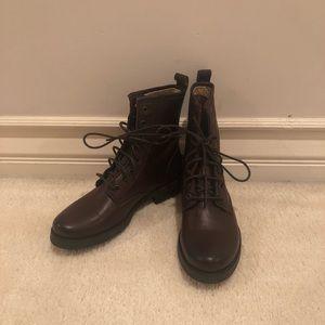 New Frye combat boots